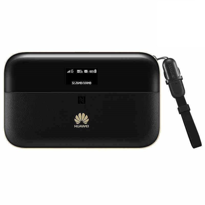 Routeur WiFi de poche sans fil d'origine 300 Mbps Huawei WiFi 2 Pro E5885 3G 4G LTE FDD TDD avec Port Ethernet batterie externe 6400 mAh