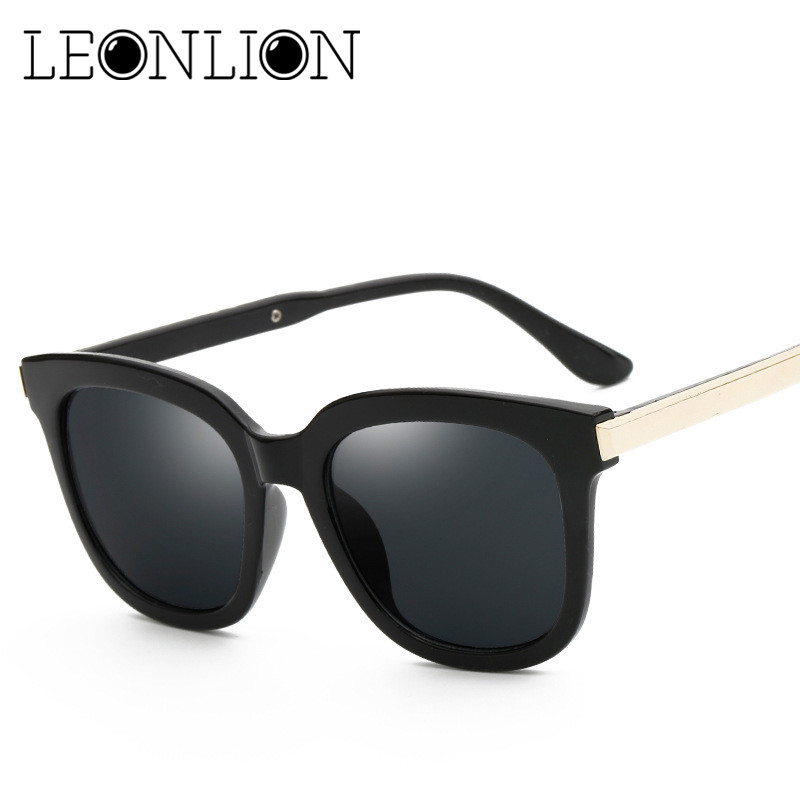 LeonLion 2018 Top Brand Designer Sunglasses Women Men Luxury Round Candies Lens Lady Round Sun Glasses Classic Retro Goggle
