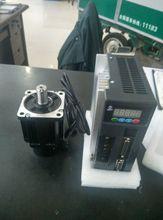 80 Flanş AC servo motor paketi (Servo Motor + Sürücü) 220 V 1.27NM 400 W 3000 rpm