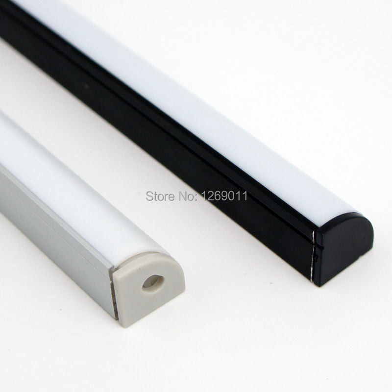 0.5Meter 16*16 mm Corner Mounting Aluminum LED Profile with Circular Lens, Compatible with Strip Width within 10mm