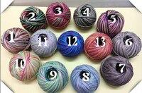 13 видов цветов 1 мм x 130 м полировки воском пеньковый Канат многоцветный DIY ручной ZAKKA строка браслет ожерелье hangtag Шнур Бесплатная доставка