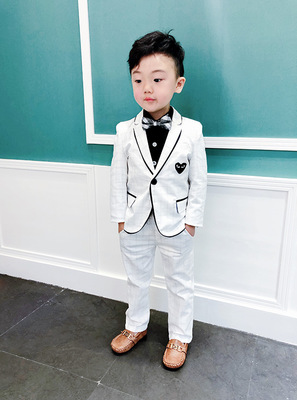 2PCS Suit Baby Boys Kids Blazer Formal Suit For Wedding Jackets Blazer+Pant 2-8Y