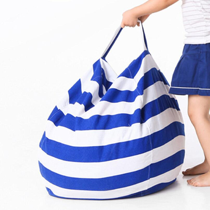63cm Kids Storage Bean Bags Plush Toys Beanbag Chair Stuffed Animal Room Mats Portable Clothes Storage Bag LX2617