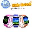 Q60 Reloj Kid Safe GPS Localizar Perdida Anti del Recordatorio SOS Q60 Buscador Device Tracker Monitor de Niños Android Reloj Teléfono Inteligente