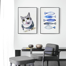 Nordic Cute Cat Oil Painting By Numbers DIY Canvas Home Decor Living Room Hand Painted Paints Wall Decoration