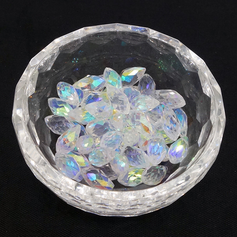 25PCS Teardrop CRYSTAL GLASS LOOSE BEADS 12MM clear - Märkessmycken - Foto 2