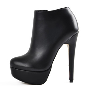 Image 1 - Onlymaker נשים של פלטפורמה סקסי עקב גבוה נעלי קרסול רוכסן צד פגיון פלוק מגפי Blus גודל US5 ~ US15
