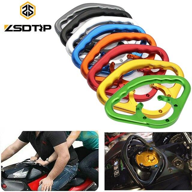 ZSDTRP Motocicleta Kawasaki ZR/Z800 Z750 Z1000 Z1000SX Corrimão Do Tanque de Combustível Reequipamento Tanque CNC Lidar Com Alça de Segurança de Passageiros