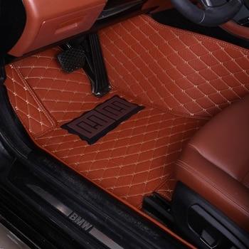 Car floor mats for Toyota Camry Corolla RAV4 Mark X Verso FJ car-styling leather Anti-slip carpet liners