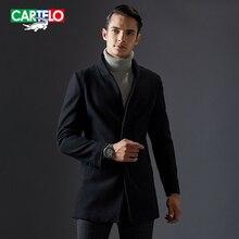 Cartelo бренд 2016 новый Длинные кашемир мужчины шерстяной жакет смеси зимней моды бизнес случайный пальто KFJSJC006