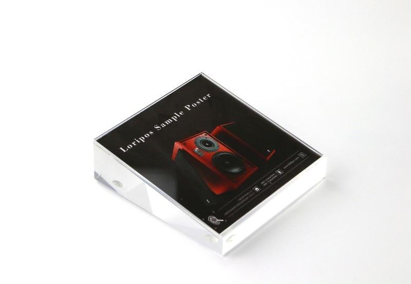 100 * 100mm Akryl prislapp Display Stand Mobiltelefon Skrivbord Skyltkort affisch Fotoram mobiltelefon funktioner indikator Rack