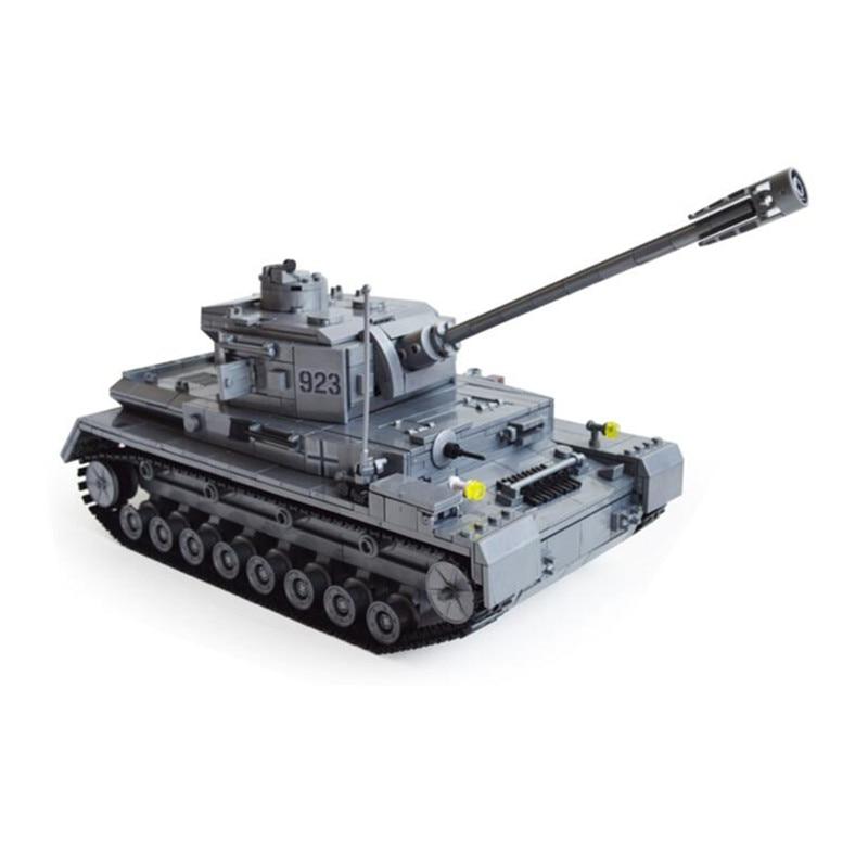 ФОТО Panzer IV F2 Tank 1193pcs Building Blocks Compatible with lepin Tank Educational Bricks Toys Models & Building Toys gift SA641