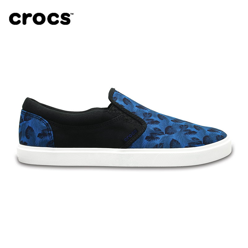 CROCS CitiLane Tropical Slip-on M MEN pu rhinestone round toe slip on womens flats