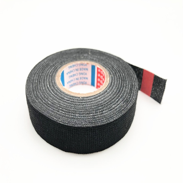 19mm x 15m fabric tape heat-resistant wiring harness tape looms wiring  harness cloth fabric tape adhesive for cable protection