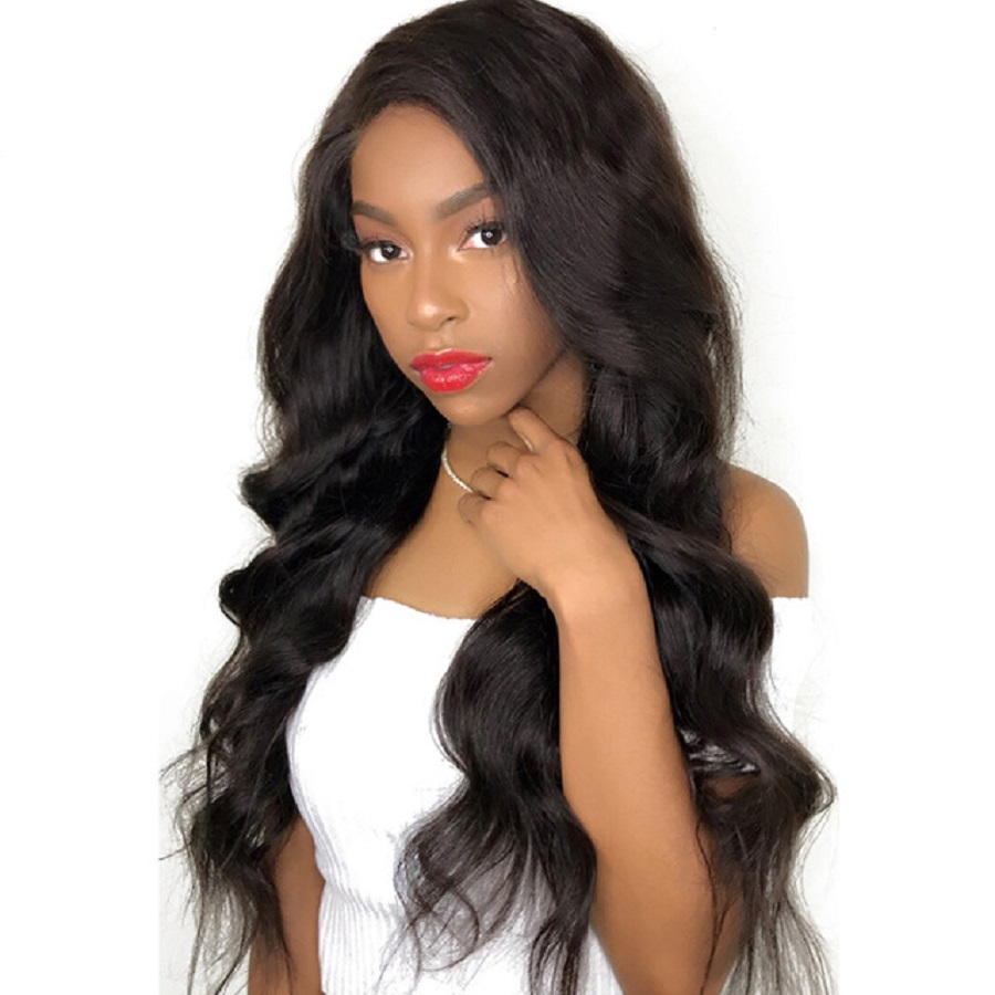 180% Density Body Wave 360 Lace Frontal Wigs Pre Plucked Natural Hairline Brazilian Remy Human Hair Wigs With Baby Hair Favor