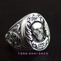 Ювелирные украшения пиратский череп 925 стерлингового серебра кольца серебряное кольцо