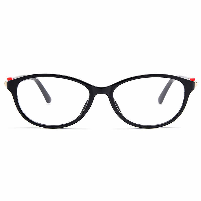 Gmei Optik Bergaya Urltra-Light TR90 Wanita Oval Penuh Rim Optik Kacamata Bingkai Plastik Wanita Miopia Kacamata M1530