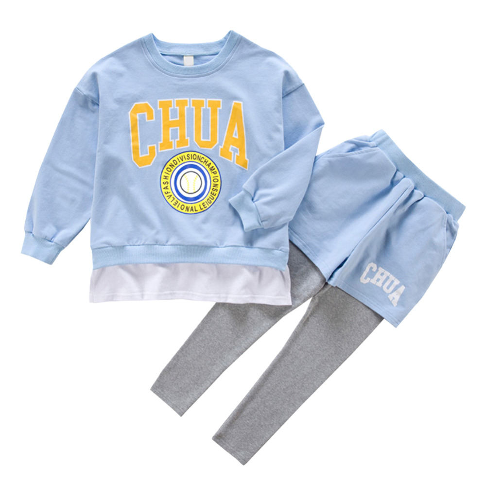 Kids Two-piece Sport Clothing Set Comfortable Breathable Sportswear Suit Irregular Multilayer Girls Childrens SuitKids Two-piece Sport Clothing Set Comfortable Breathable Sportswear Suit Irregular Multilayer Girls Childrens Suit