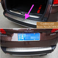 For 2014 2015 Peugeot 2008 Accessories Tail Rear door sill Bumper Protector Exterior Cover Trim Stainless Steel Car-styling