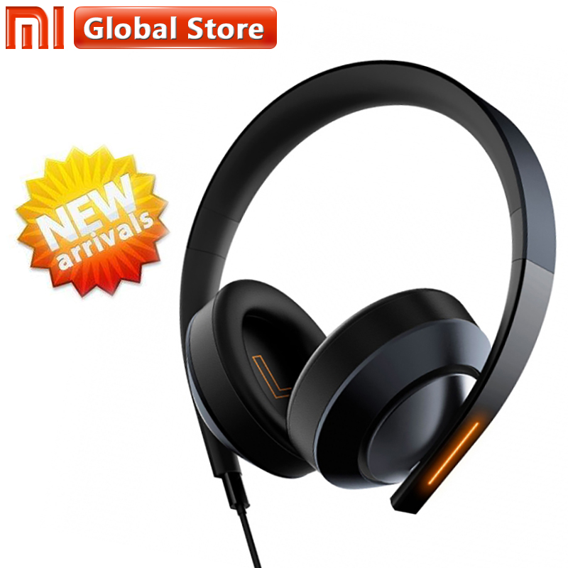2018 Newest Xiaomi Earphones MI Gaming Headphone 7.1 Virtual Surround Stereo With Backlit Anti-noise Headset For PC Laptop Phone somic g951pink headphone 7 1 virtual gaming headphone female players wired usb headphone with microphone headsets 3d surround