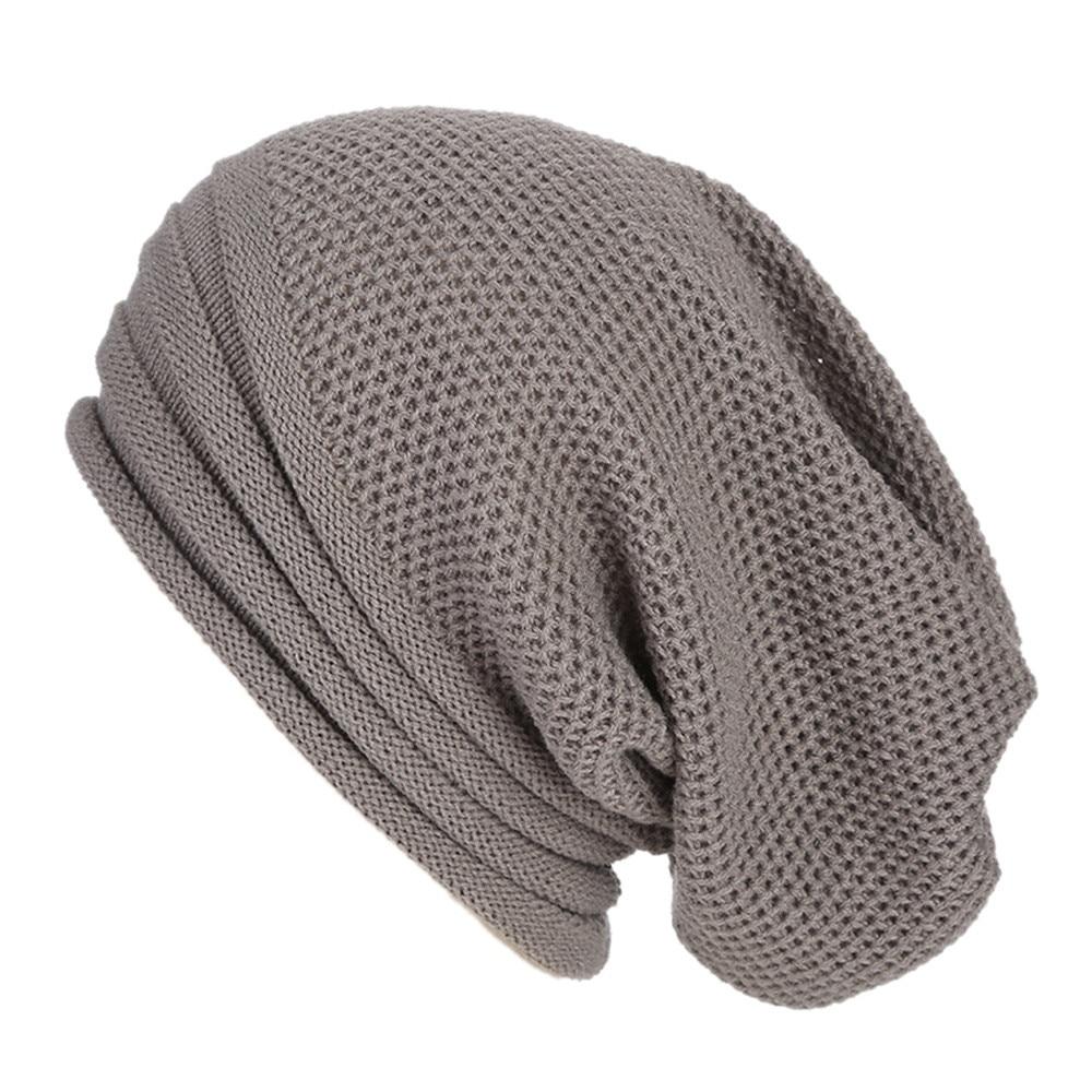 3e832905ae9 Men Women Baggy Warm Crochet Winter Wool Knit Ski Beanie Skull Slouchy Caps  ...
