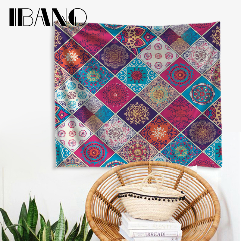 IBANO Mandala Tapestry India Design Home Wall Hanging Mandalas Tapestry Blanket Decoration for Bedroom Dorm Yoga Mat Tablecloth in Tapestry from Home Garden