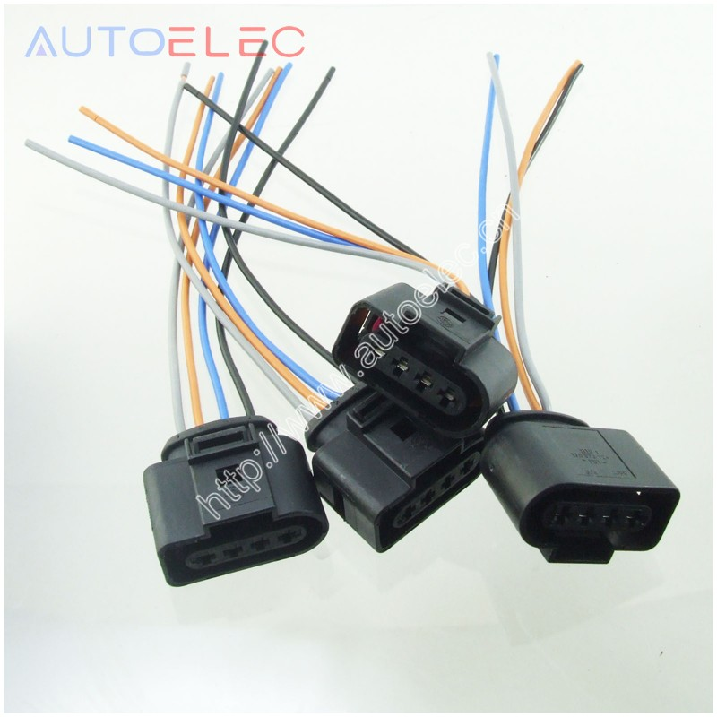 US $4.55  Set 4 Ignition Coil 4 Pin 1J0973724 Connector Repair Kit on ignition coil power supply, ignition coil cover, ignition coil tachometer, ignition coil engine, ignition system wiring diagram, ignition coil control module, ignition coil transformer, ignition switch harness, ignition coil resistor, ignition coil spark plug, ignition coil bracket, ignition coil sensor, ignition wire, ignition coil pack harness, ignition harness 03 mazda 6, ignition switch wiring, ignition coil gauge, ignition control module wiring diagram, ford ignition coil harness, ignition coil cables,
