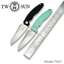 TwoSun D2 blade folding knife Pocket Knife tactical knife hunting knife Outdoor camping tool EDC Ball Bearings G10 Zenith TS27 цены