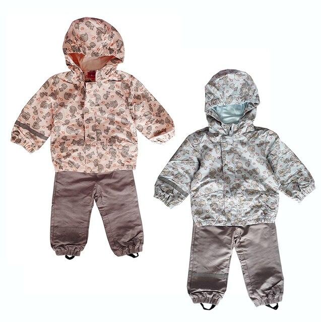 Малыш / комплект одежды младенца, Девочки, Мальчиков ветрозащитный / водонепроницаемый костюм, Близнецы комплект одежды, Размер от 62 до 80