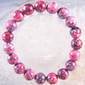 "Free Shipping Stretch 10mm Round Beads Natural Stone Purple Red Jasper Bracelet 8"" 1Pcs H1744"