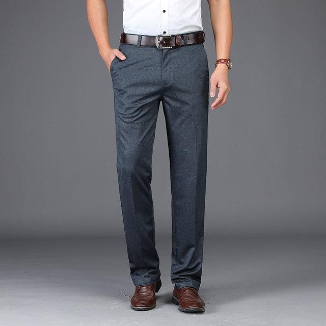 Anti Wrinkle Men Suit Pants  3