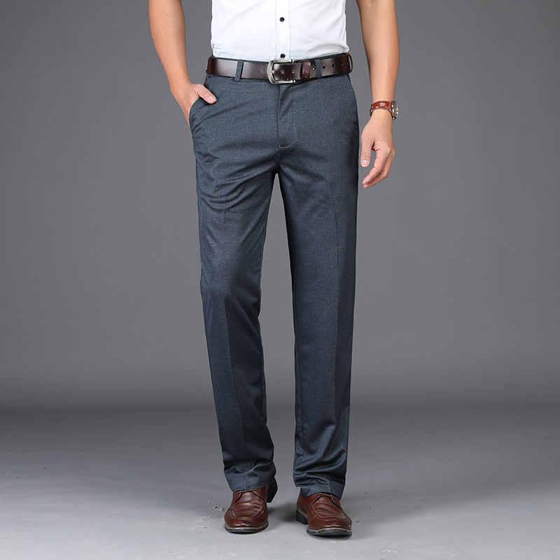 b8864f5c8 ... Spring Summer Anti Wrinkle Men Suit Pants Formal Work Pants Brand  Clothing Straight Men Dress Pants ...