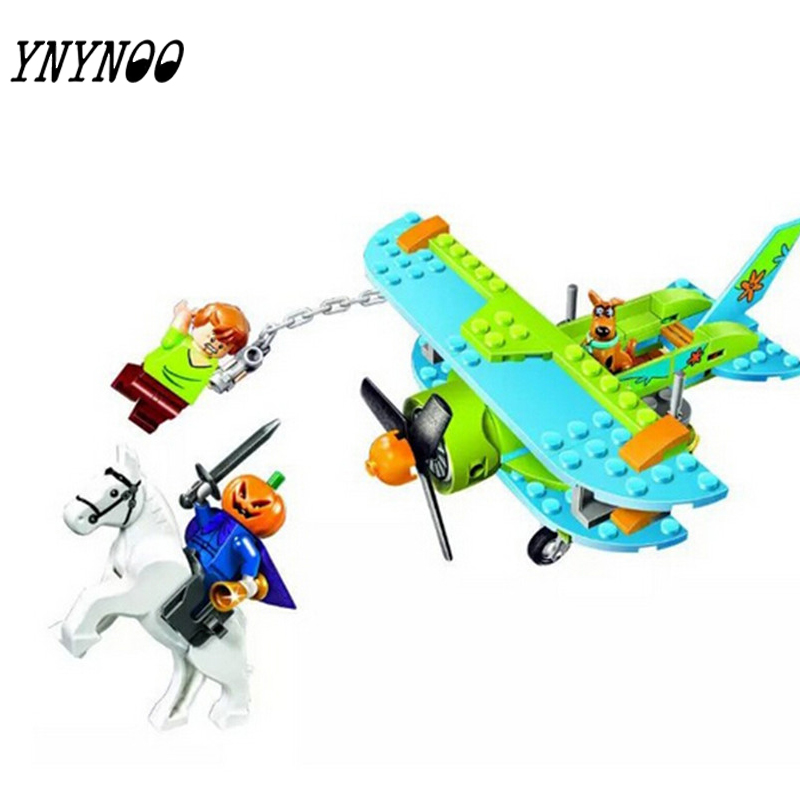 (YNYNOO) 10429 Scooby Doo Mummy Museum Mysterious Plane  Building Block  Toys compatible with bela 10429 scooby doo mummy museum mysterious plane minifigures building block minifigure toys best legoelieds toys