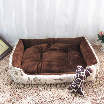 England Style Cats Puppy Beds Comfortable Pets Dog Kitten Beddings House Nest Pad Soft Fleece Bed Home&Garden Products