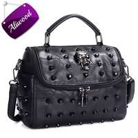 Aliwood Women S Handbags Genuine Leather Crossbody Bags Diamond Embroidery Rivet Messenger Bags Pillow Tote Beans