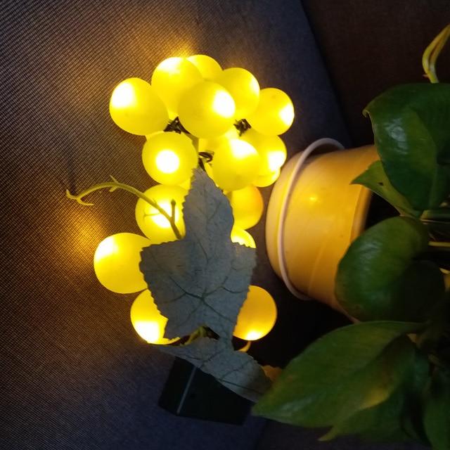 led fairy lights string wedding decoration christmas string battery light grape fruit 25leds grape lights bridal