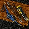 17cm overwatch hanzo arma chaveiros overwatch hanzo cosplay brinquedo arma modelo chaveiro para carro arco e flecha