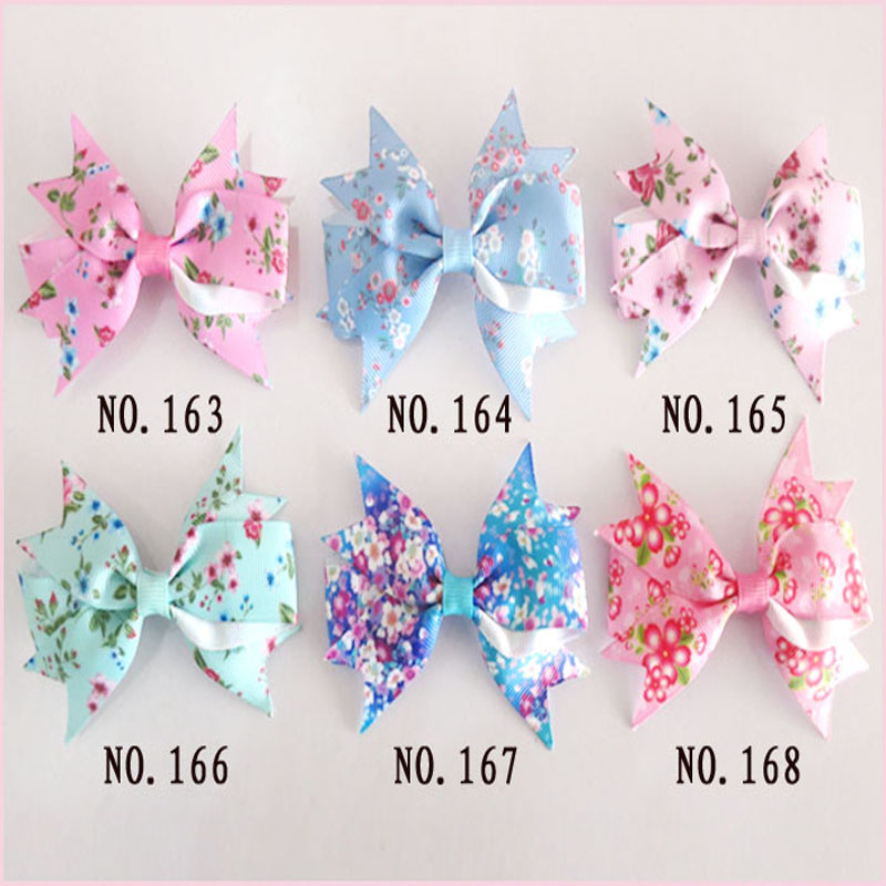 100 BLESSING Good Girl Custom Boutique 4.5 Inch Ring Hair Bows Clip 74 No.