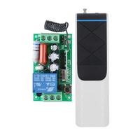 RF Remote Control Switch AC 220V 1CH 10A Relay Wireless Light Switch 1000 4000M Remote Switch