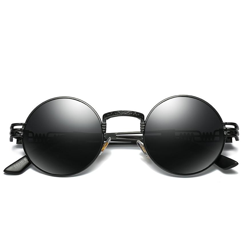 MYT_0131 Retro round Polarized Sunglasses Prince Mirror Steampunk Glasses Heavy Metal Harajuku Sunglasses Eyewear UA400 in Men 39 s Sunglasses from Apparel Accessories