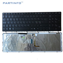 Części do laptopa dla SONY VAIO SVE15 SVE 15 SVE151 SVE1511 SVE171 SVE1712 SVE1713 czarny NE podświetlana klawiatura V133946AK1NE w Zamienne klawiatury od Komputer i biuro na