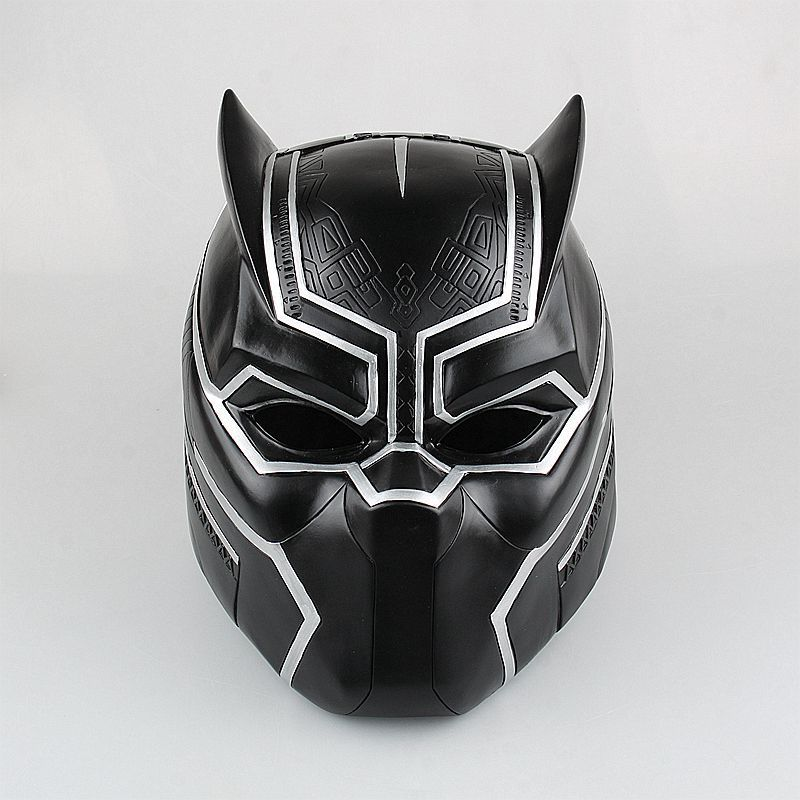Captain America Civil War Black Panther Helmet 1/1 Scale Hallowmas Party Cosplay Helmet Black Panther PVC Action Figure Kids Toy avengers captain america 3 civil war black panther 1 2 resin bust model panther statue panther half length photo or portrait