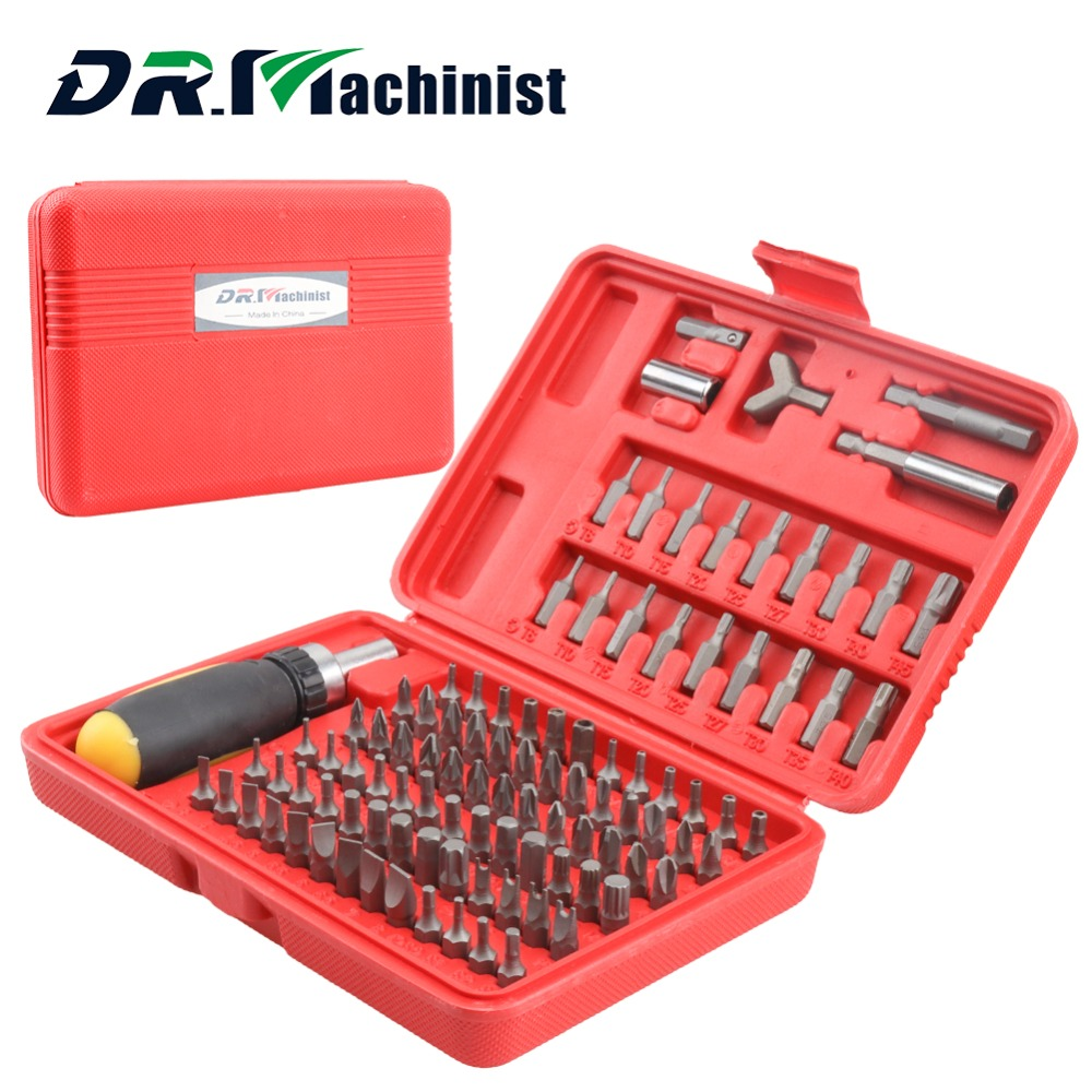 DR.Machinist 101PCS Screwdriver Bit Set Tamperproof Security BitsTool with Multifunctional Screw Driver Bits Drill with Box