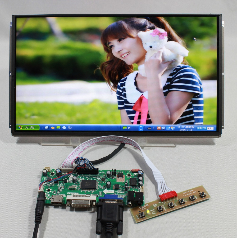 HDMI+VGA DVI lcd Control board with+13.3inch LP133WD1 SLA1 1600x900 ips lcd 8 4 8 inch industrial control lcd monitor vga dvi interface metal shell open frame non touch screen 800 600 4 3