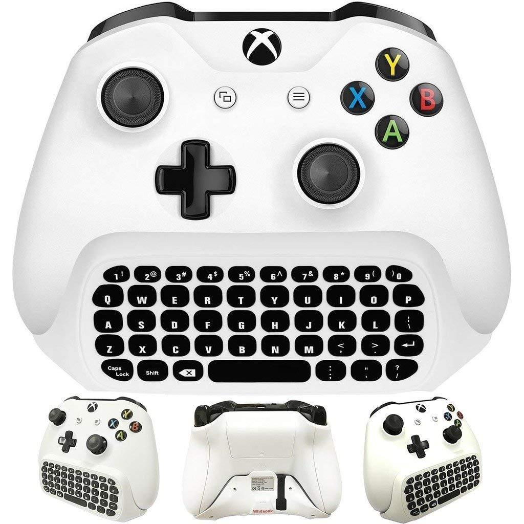 Para xbox um s chatpad mini teclado de jogos teclado mensagem de bate-papo sem fio com áudio/fone de ouvido jack para xbox um elite & gam magro