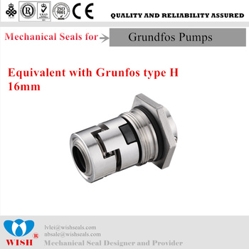 16mm Mechanial seal for Grundfos pump CR series cartridge seal type H