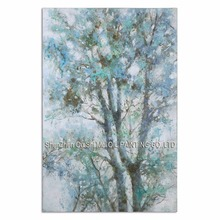 Newest Big Size Handpainted Shade Canopy Oil Painting for Living Room Decor Popular Modern Tree Landscape On Canvas on