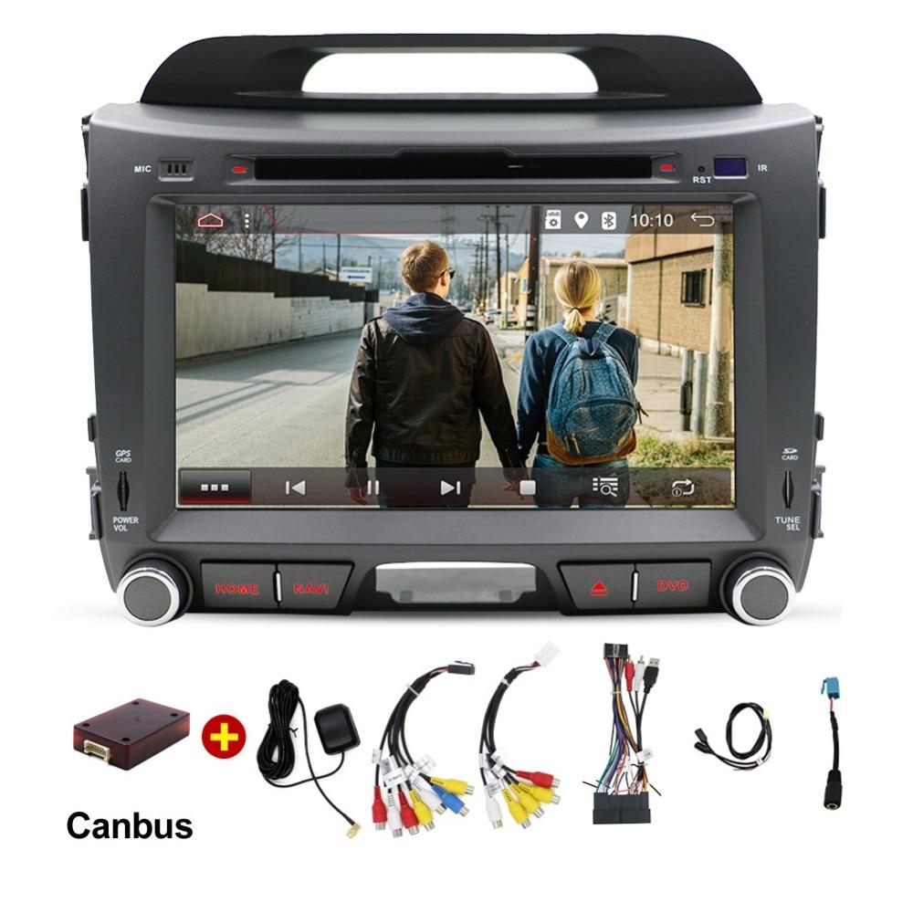 Quad Core автомобильный DVD для Kia Sportage 2011 2012 2013 2014 2015 ПК автомобиля Штатная навигация GPS 2 дин стерео