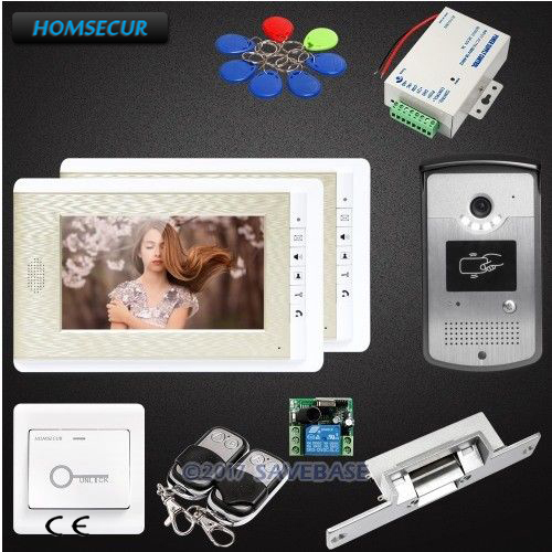 HOMSECUR 1V2+Lock Hand-Free 7inch Wired Video Door Phone System with Real-time Outdoor MonitoringHOMSECUR 1V2+Lock Hand-Free 7inch Wired Video Door Phone System with Real-time Outdoor Monitoring