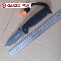 58 60HRC Ganzo G7413P 440C G10 Handle With A Whistle Folding Knife Survival Camping Tool Pocket